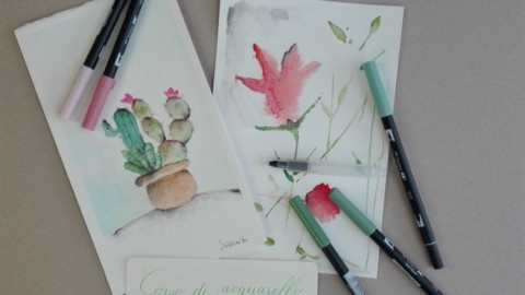 Corso di Acquerello con Tombow Dual Brush Floral