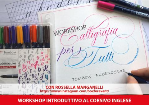 Workshop calligrafia introduttivo al Corsivo Inglese